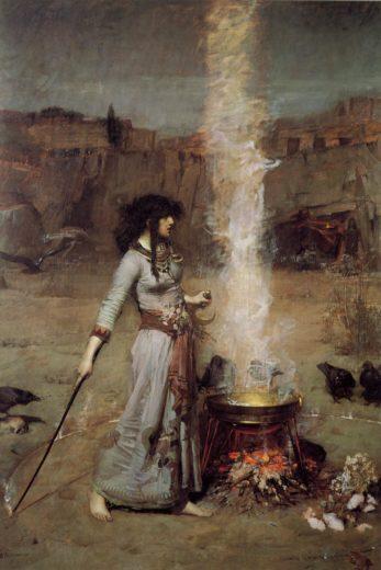 Círculo Mágico, pintura de John William Waterhouse