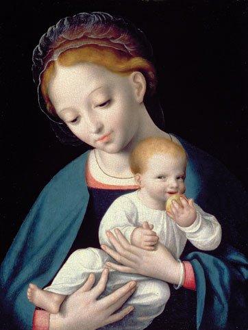 Cornelis van Cleve - Virgem e Criança (1550)
