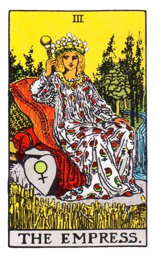 A Imperatriz - o terceiro arcano maior do Tarot de Waite.